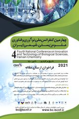 Fourth National Conference on Innovation and Technology of Biological Sciences, Iranian Chemistry